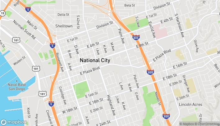 Map of 1111 East Plaza Blvd in National City