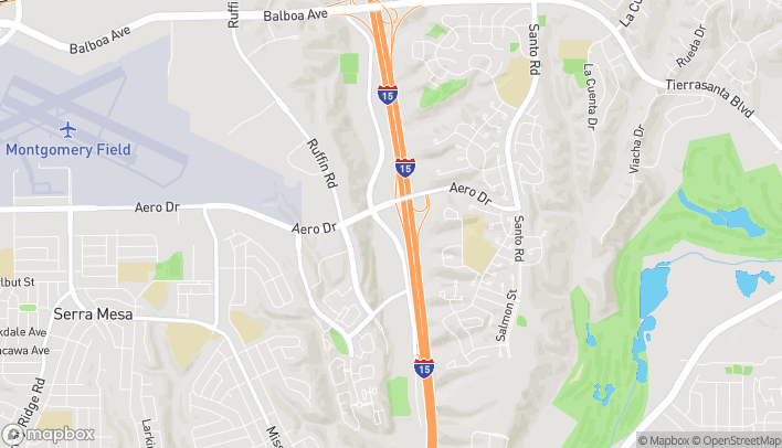Map of 3655 Murphy Canyon Road in San Diego