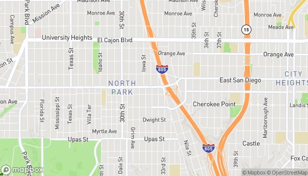 Mapa de 3223 University Ave en San Diego