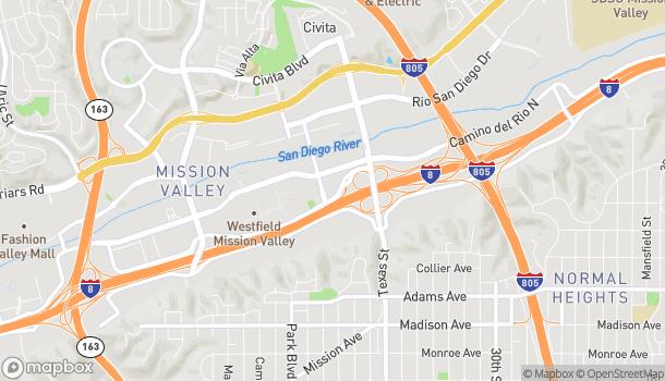 Map of 2011 Camino Del Este North in San Diego