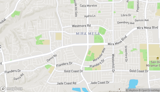 Map of 8225 Mira Mesa Blvd in San Diego