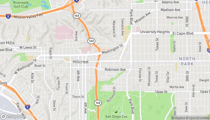 Mapa de 1060 University en San Diego