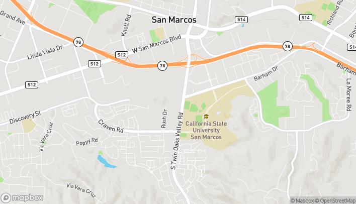 Mapa de 344 S Twin Oaks Valley Rd en San Marcos
