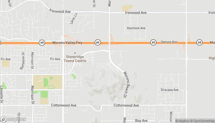 Map of 12831 Moreno Beach Dr in Moreno Valley