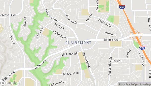 Mapa de 5252 Balboa Ave en San Diego