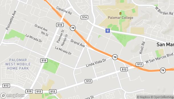 Map of 133 S Las Posas Rd in San Marcos