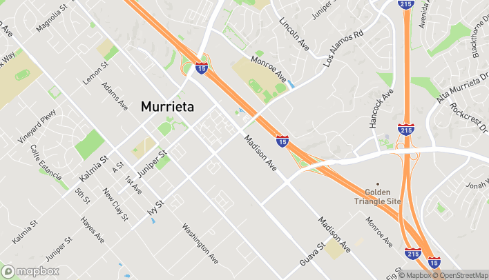 Map of 25145 Madison Ave in Murrieta