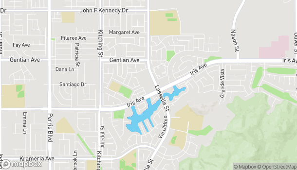 Map of 25910 Iris Ave in Moreno Valley