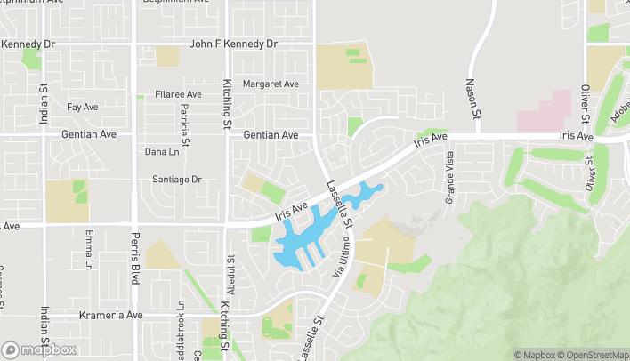 Mapa de 25910 Iris Ave en Moreno Valley