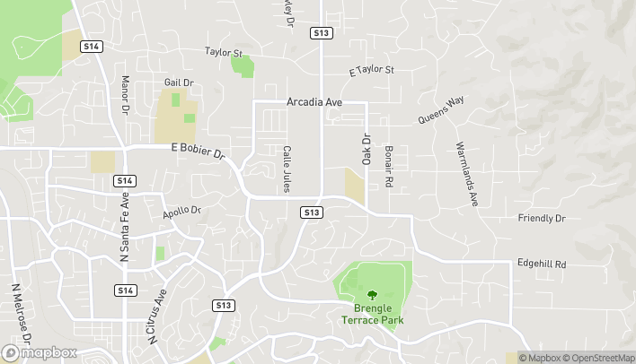 Map of 1310 E Vista Way in Vista