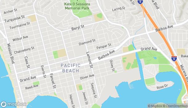 Map of 1975 Garnet Ave in San Diego