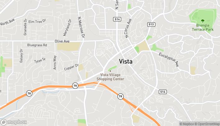Mapa de 347 Vista Village Drive en Vista