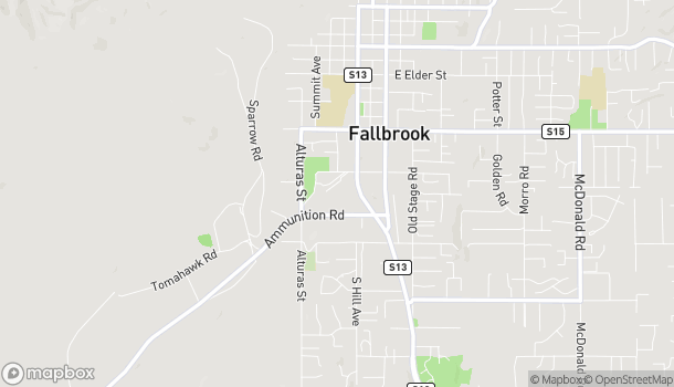 Map of 1113 South Mission Road in Fallbrook