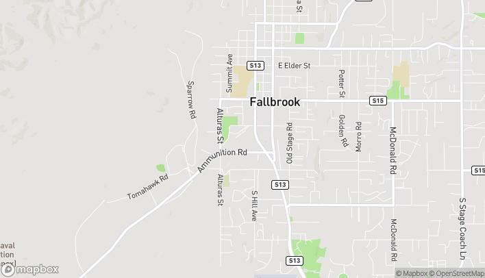 Mapa de 1113 South Mission Road en Fallbrook