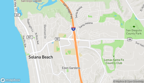 Map of 136 S Solana Hills Dr in Solana Beach