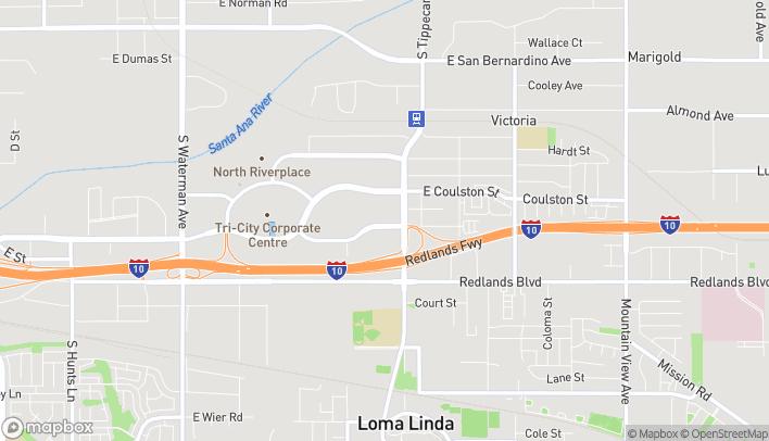 Map of 1060 E Harriman Place in San Bernardino