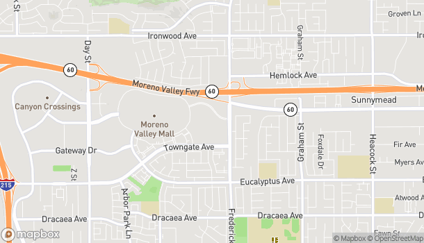 Map of 12625 Fredrick Street in Moreno Valley