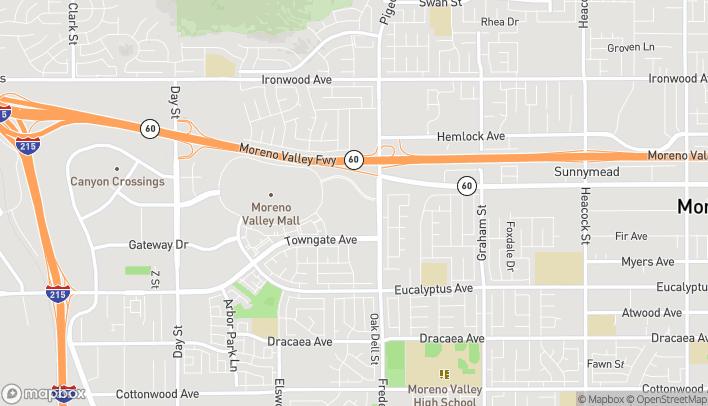 Map of 12625 Fredrick Street in Moreno Valley
