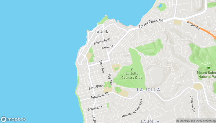 Mapa de 941 Pearl St en La Jolla