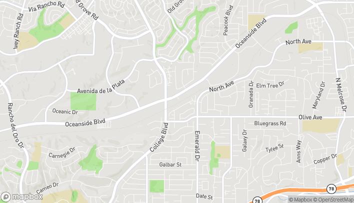 Map of 4225 Oceanside Blvd in Oceanside