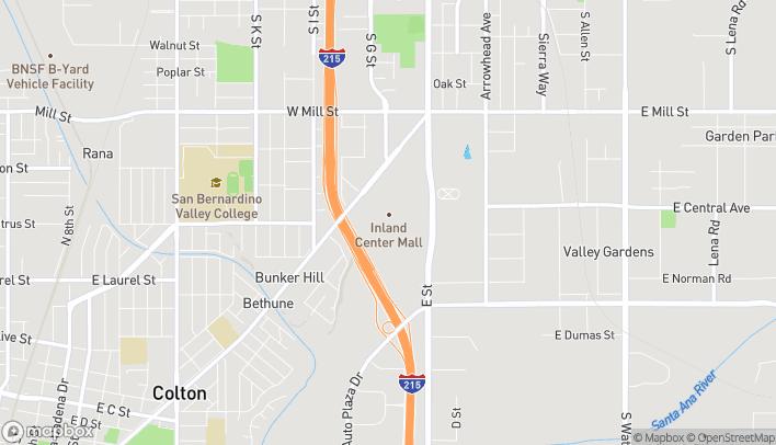 Mapa de 500 Inland Center Dr en San Bernardino