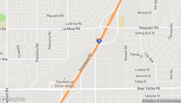 Map of 12600 Armargosa Road in Victorville