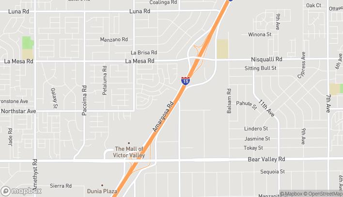 Mapa de 12600 Armargosa Road en Victorville