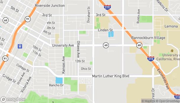 Mapa de 3977 Chicago Ave en Riverside