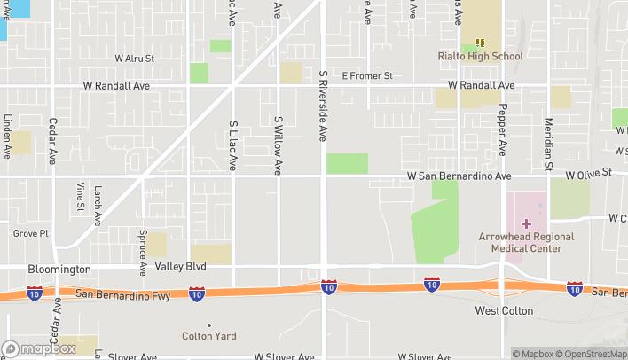 Mapa de 1310 S Riverside Ave en Rialto