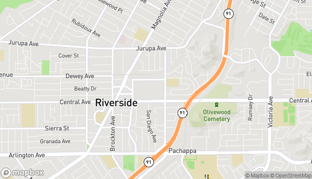 Map of 3540 Riverside Plaza in Riverside