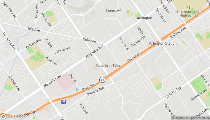 Map of 1180 Tyler Street in Riverside