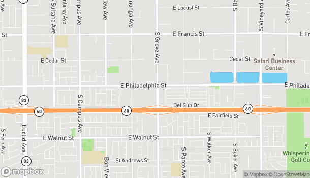Map of 2200 S. Grove Avenue in Ontario