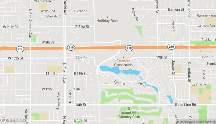 Mapa de 1900 N. Campus Avenue en Upland