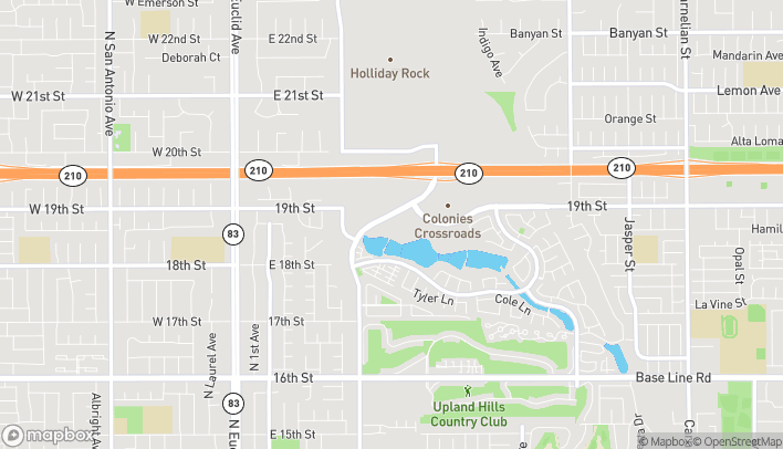 Map of 1900 N Campus Avenue in Upland