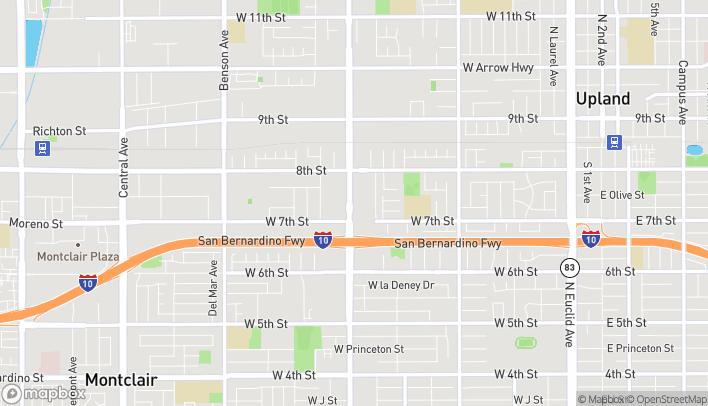 Mapa de 320 S Mountain Ave en Upland