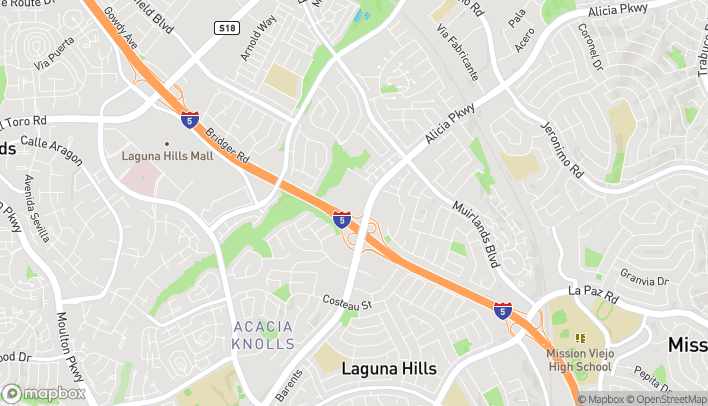Mapa de 24481 Alicia Pkwy en Mission Viejo