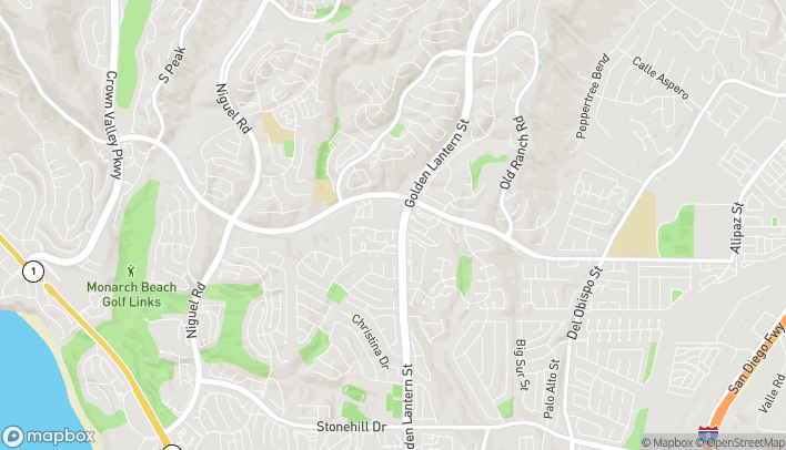 Mapa de 32585 Golden Lantern St en Dana Point