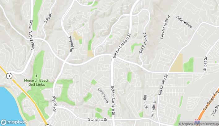 Map of 32585 Golden Lantern St in Dana Point