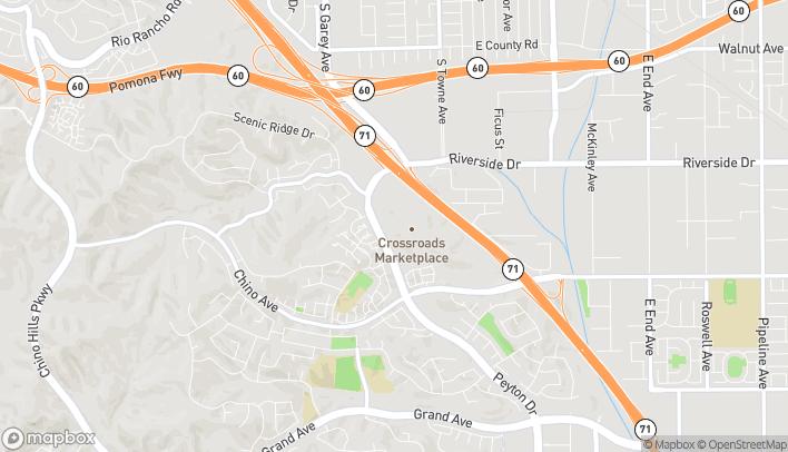 Map of 13089 Peyton Dr in Chino Hills