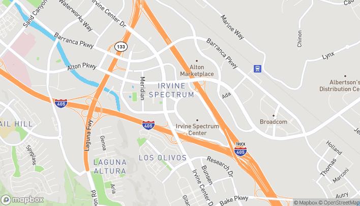 Map of 520 Spectrum Center Dr in Irvine