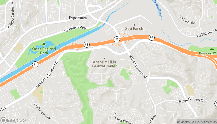 Map of 8132 East Santa Ana Canyon Rd in Anaheim