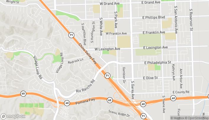 Mapa de 763 Rio Rancho Rd en Pomona