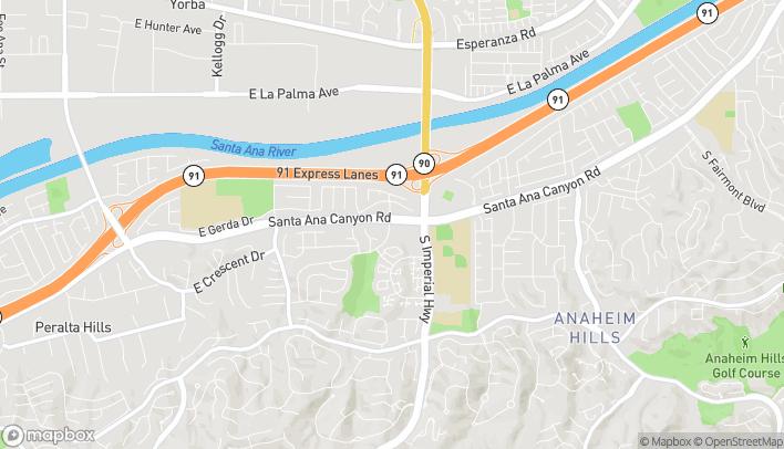 Mapa de 5550 E Santa Ana Canyon Rd en Anaheim
