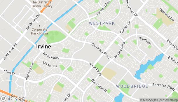 Mapa de 3800 Barranca Parkway en Irvine