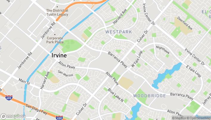 Map of 3800 Barranca Parkway in Irvine
