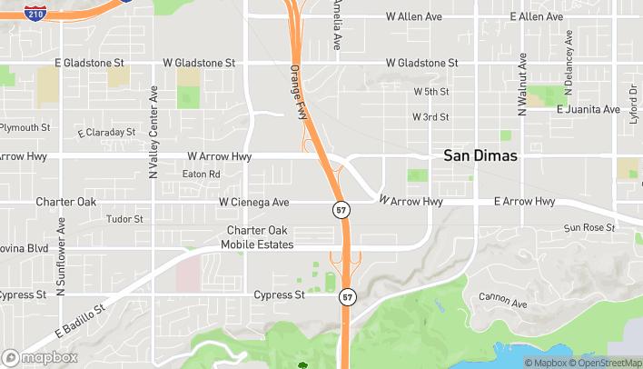 Mapa de 830 W Arrow Hwy en San Dimas