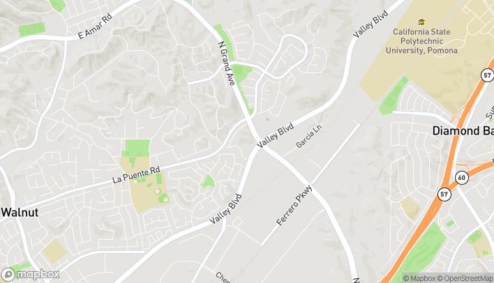 Mapa de 515 N Grand Ave en Walnut
