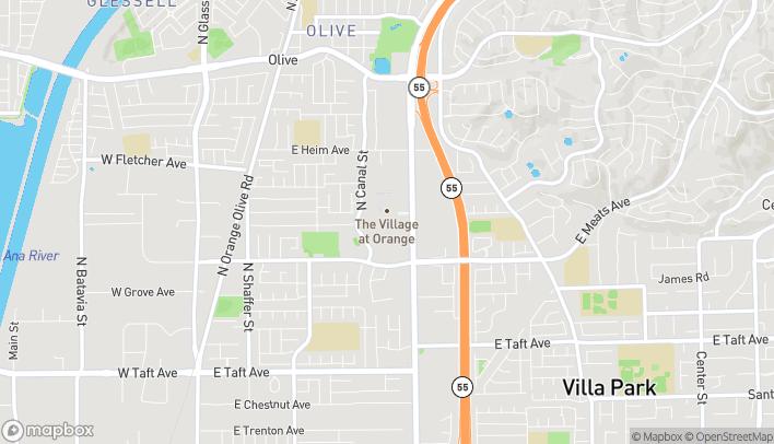Mapa de 1500 E Village Way en Orange