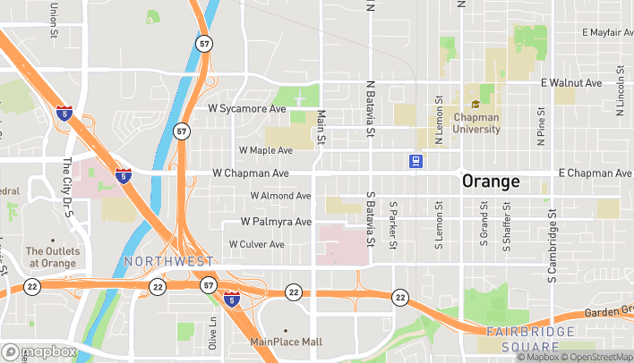 Map of 125 S Main St in Orange