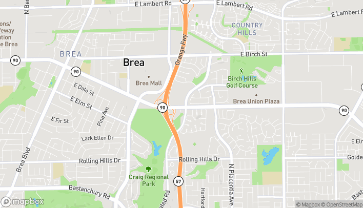 Map of 1643 E. Imperial Hwy in Brea